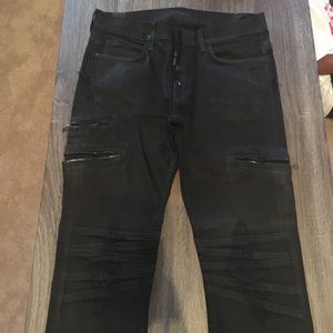 095a755cb5b Hudson Jeans Jeans | Mens Destroyed Skinny Black Waxed | Poshmark